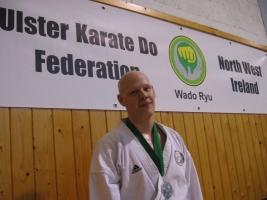 Tamás Pénzes (2nd place Senior kumite open)
